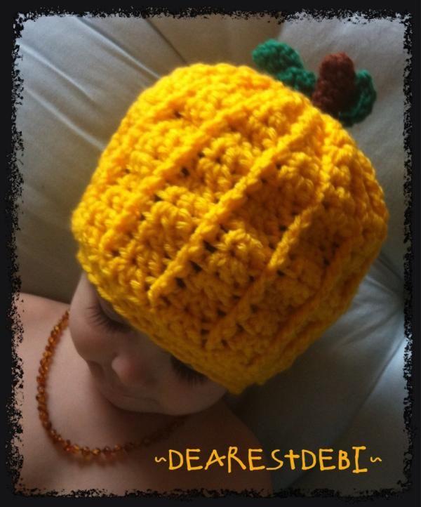 Crochet Pumpkin Hat Dearest Debi Patterns Crochet Knit And Sew