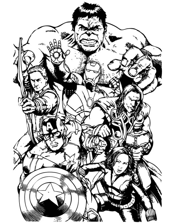 The Avengers Team Assemble Coloring Page Download Print Online Coloring Pages For Free Color In 2020 Avengers Coloring Avengers Coloring Pages Superhero Coloring