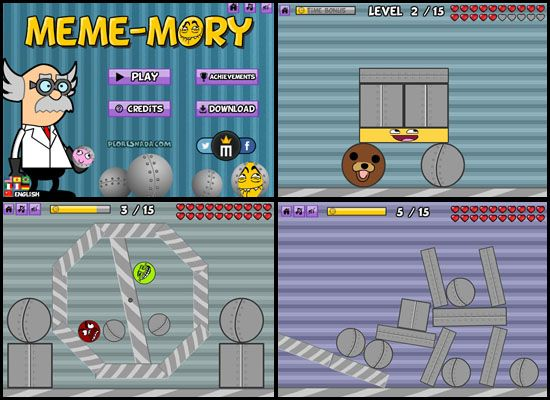 Play #MemeMory. Test your concentration and your spatial reasoning skills with this funny game!