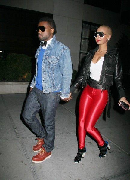 Kanye West In Bow Tie And Denim Jacket Fashion Denim Jacket Leather Pants