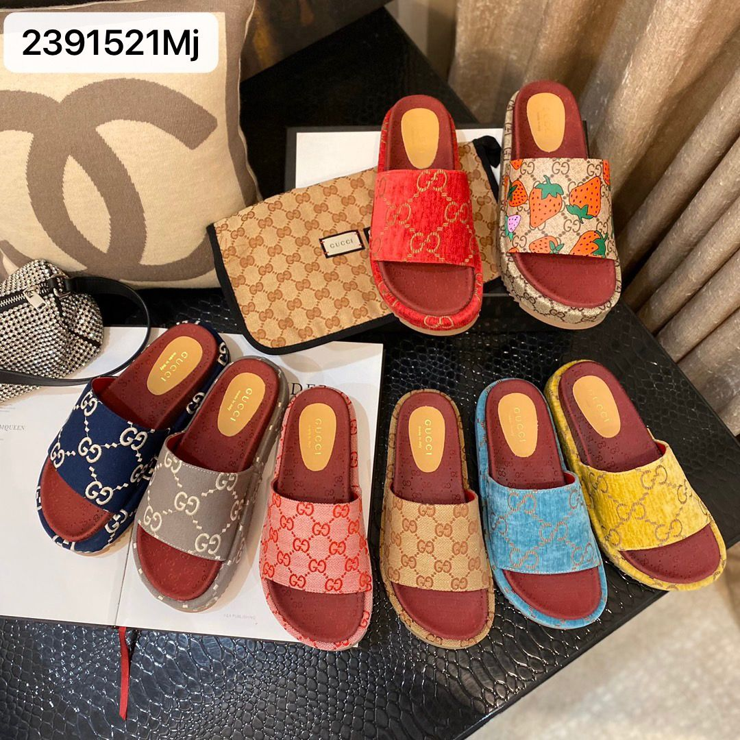 Gucci platforms slippers casual slides