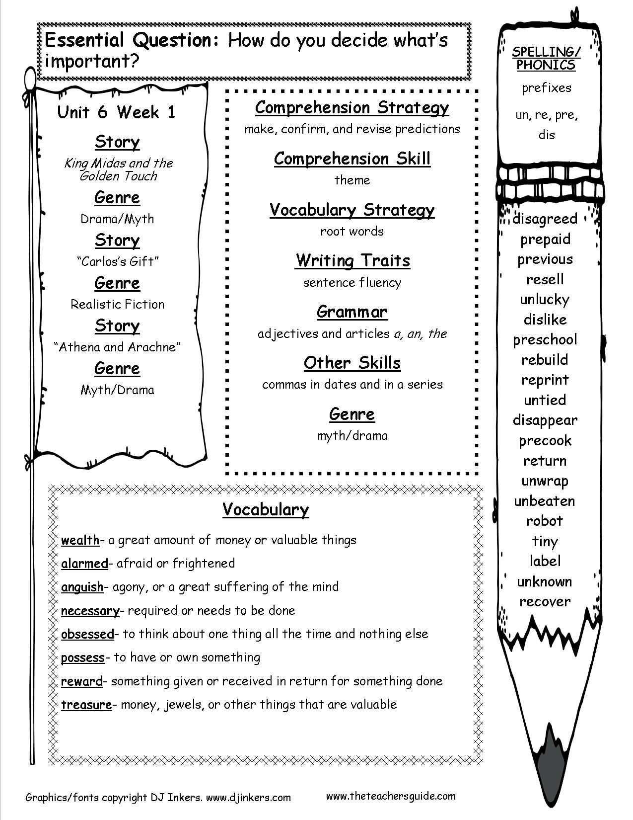Mcgraw Hill 3rd Grade Spelling Unit 6 Week 1