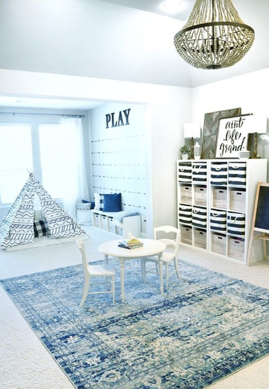 30 Genius Kids Playroom Decor Ideas For Girl Sunroom Playroom Playroom Design Loft Playroom