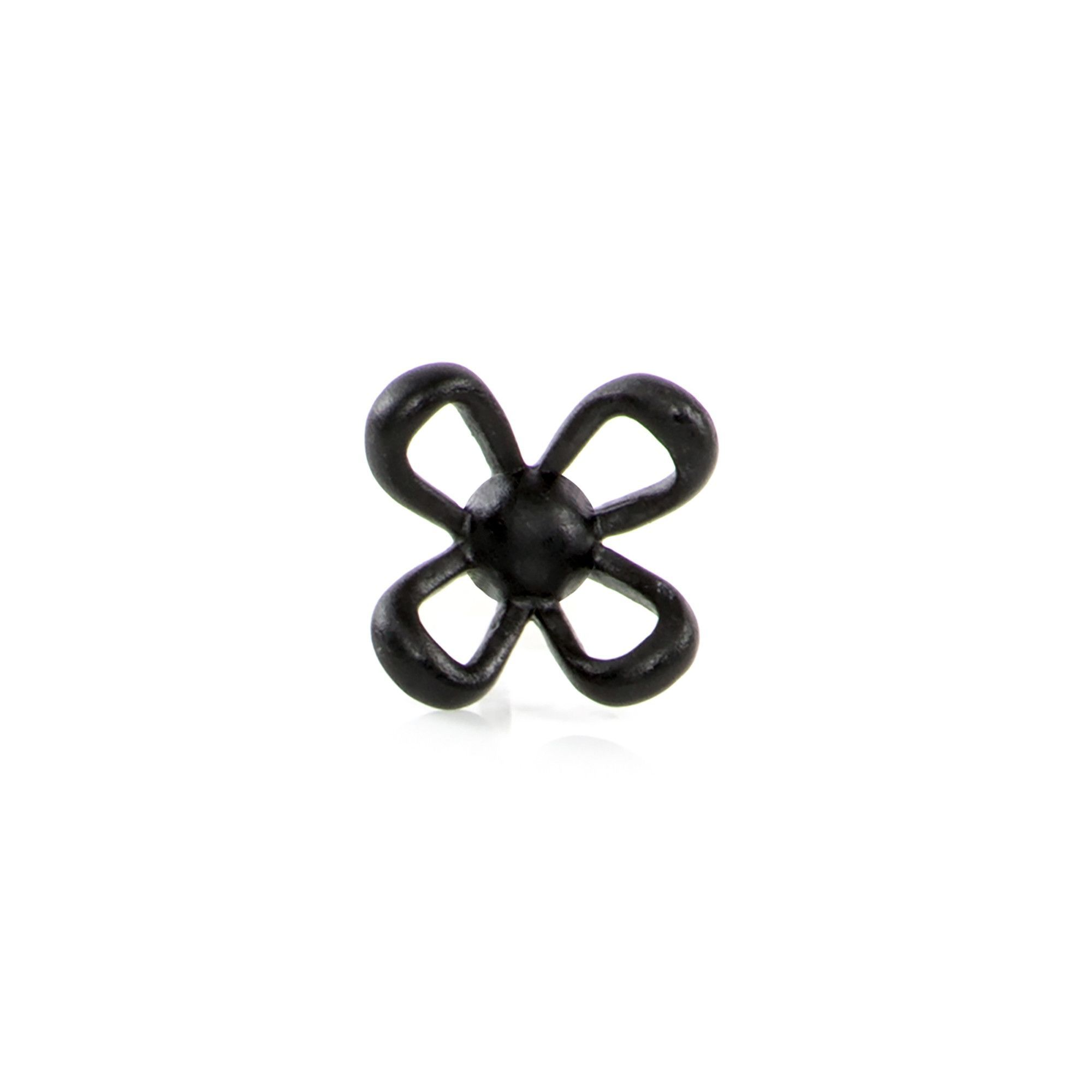 Lapel, Pin-Flower-BLK
