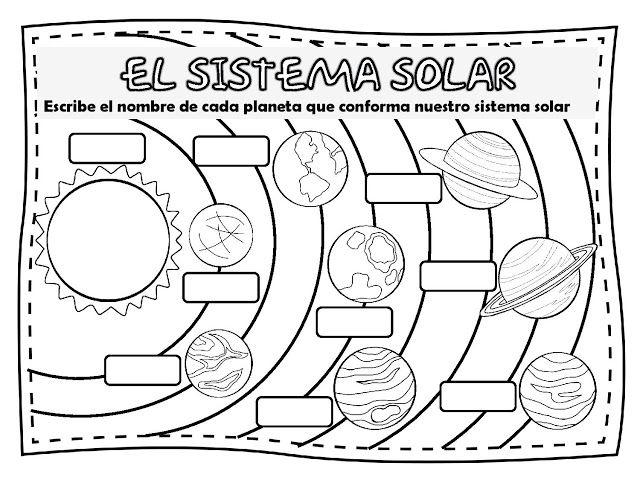 fichas de primaria el sistema solar ciencias en la escuela