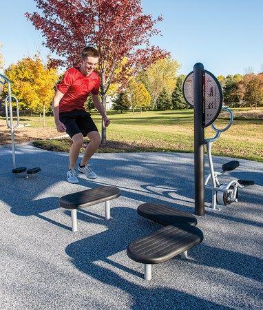 healthbeat plyometrics  outdoor workout platforms for