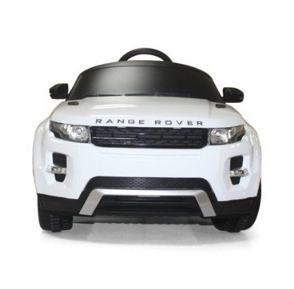 Amazon Com Licensed By Range Rover Kids White Range Rover Evoque Ride On Car Toy With Remote Control Toys Game Range Rover Evoque Range Rover White Toy Car