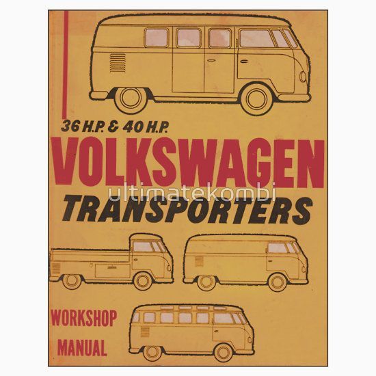Volkswagen Kombi Workshop Manual Print