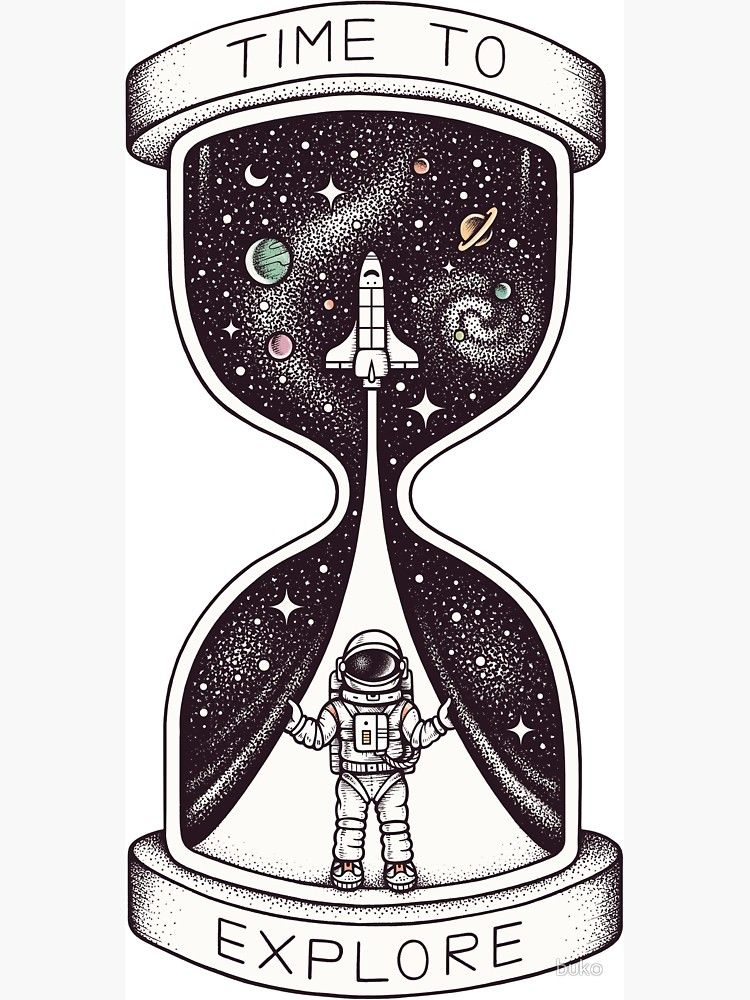 'Time to Explore' Sticker by buko