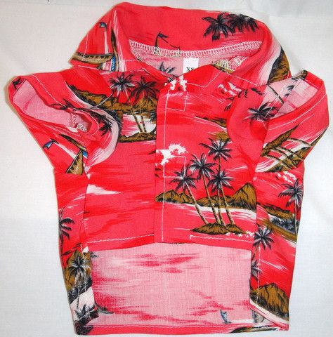 Spoiled Dog Designs | Red Hawaiian Print Shirt | $26 | You know, for when we go to Hawaii