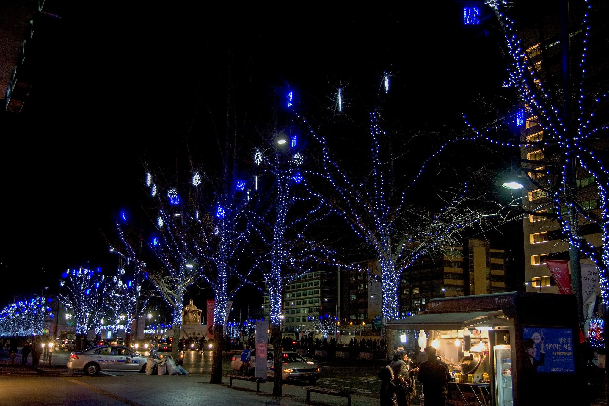 https://flic.kr/p/qHfjNy | 서울광장 : Seoul Plaza | 서울광장이 겨울밤은 예쁘다.
