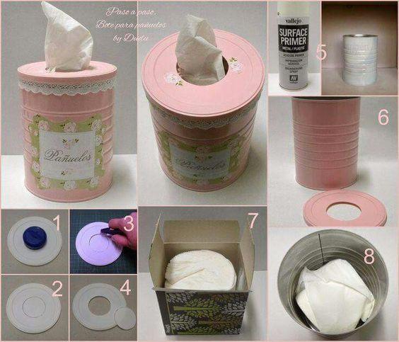 Upcycling Idee: Von der Keksdose zur DIY Teebox mit Leder-Details