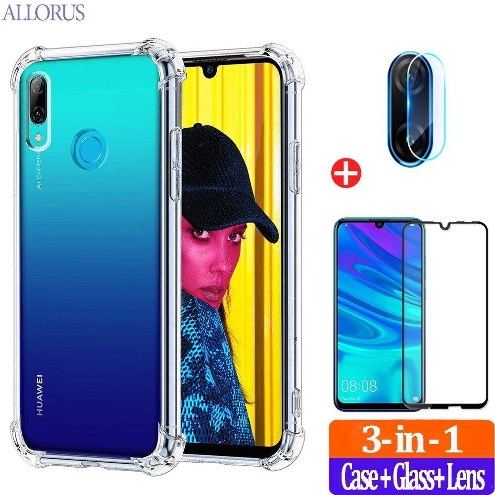Transparent Case Huawei Y6p Y5p Case Glass Camera Soft Silicone Cover Huawei Y5 Y6 Y7 Y8 P Smart Z 2019 2020 S Phone Case Cover Transparent Case Silicone Cover