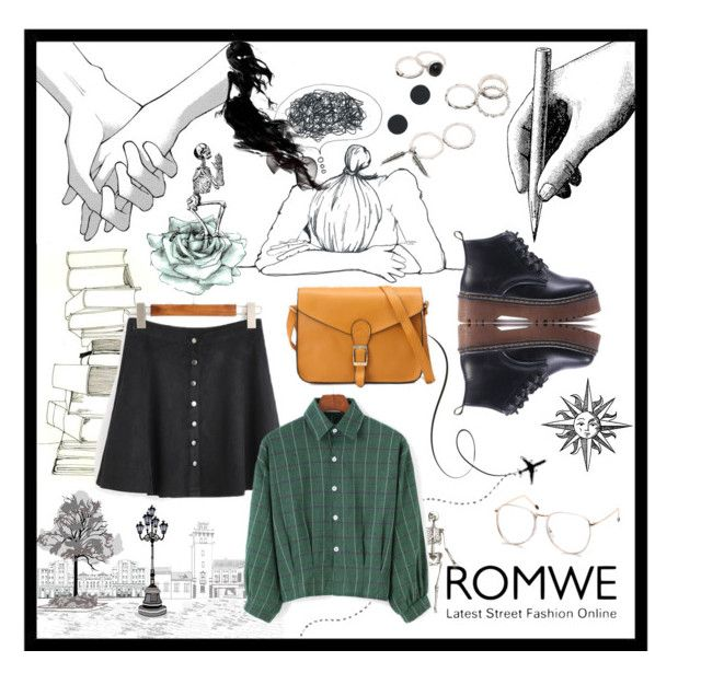 """Full ROMWE"" by vicko-kk ❤ liked on Polyvore featuring romwe"