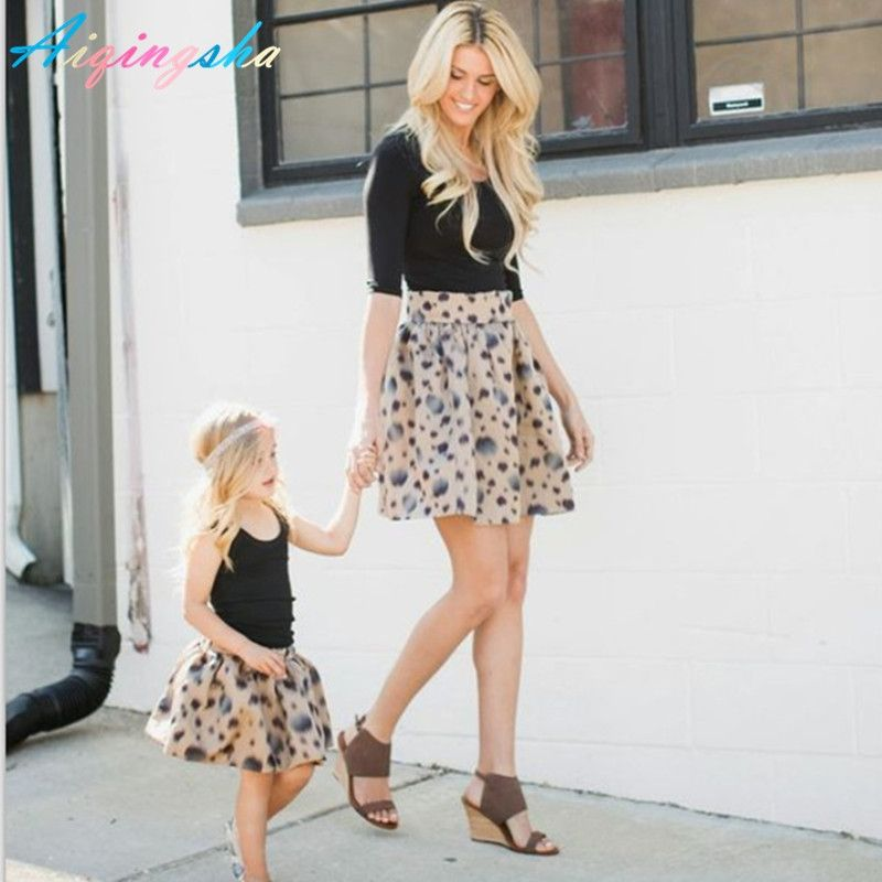 16aa38b1ca0 Mother and Daughter Matching Clothes Polka Dot Tutu Short Skirt Summer Most  Fashion Top Quality Mom and Baby Clothes Princess