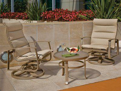 Tropitone Mainsail Padded Sling Patio Aluminum Lounge Set By