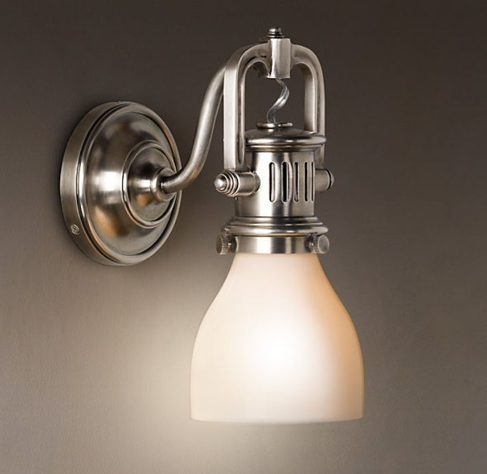 1920s factory sconce wall lamp bathroom lighting ideas casa windomere pinterest walls and Bathroom sconce lighting ideas