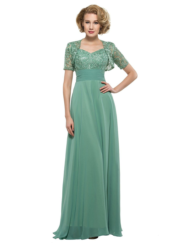 Tanpell womenus aline pleats chiffon long mother of the bride dress