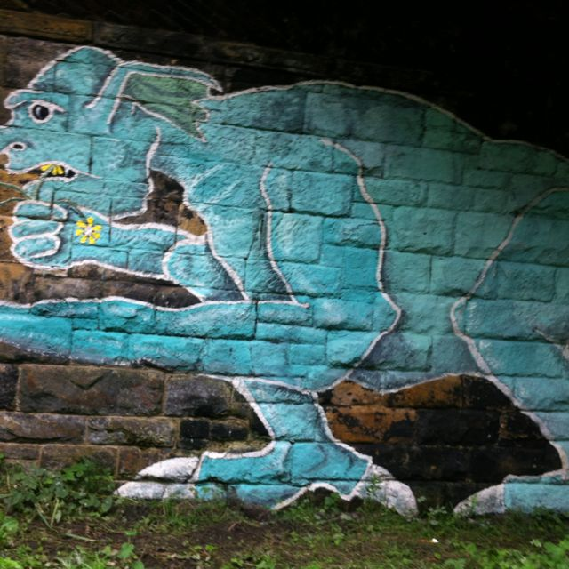 Flower-eating under bridge troll, Tynemouth