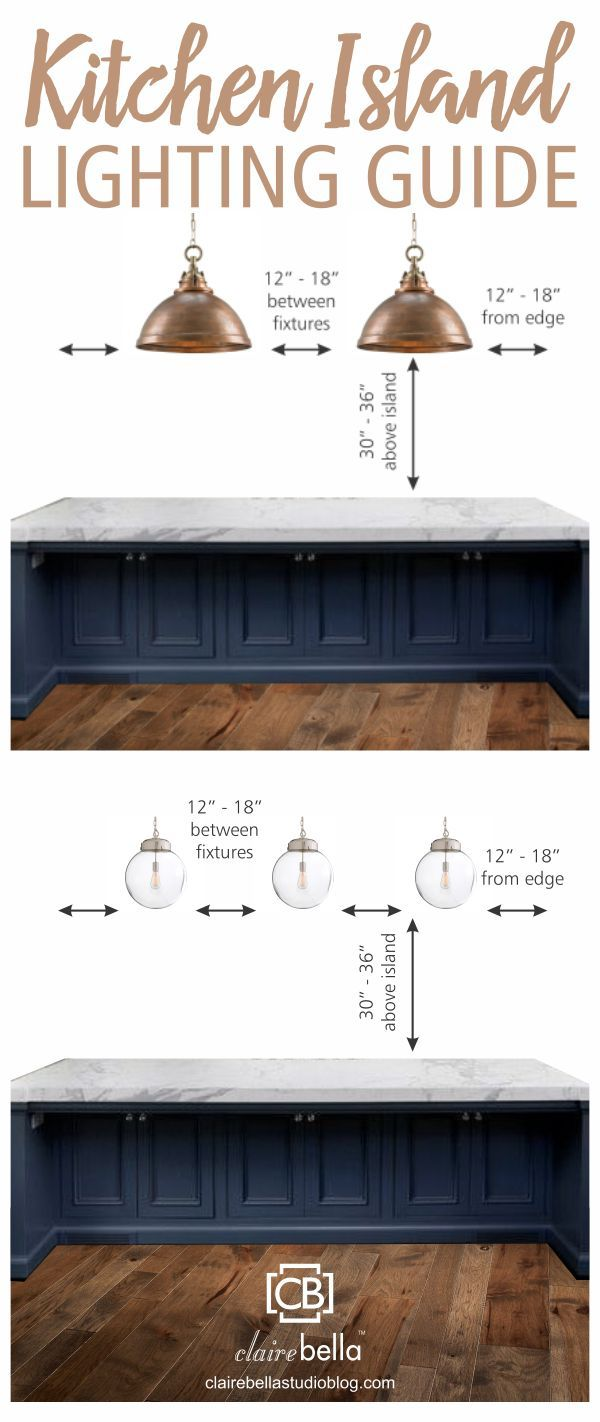 Kitchen Island Lighting Guide How Many Lights How Big How High - Light fitting over kitchen island