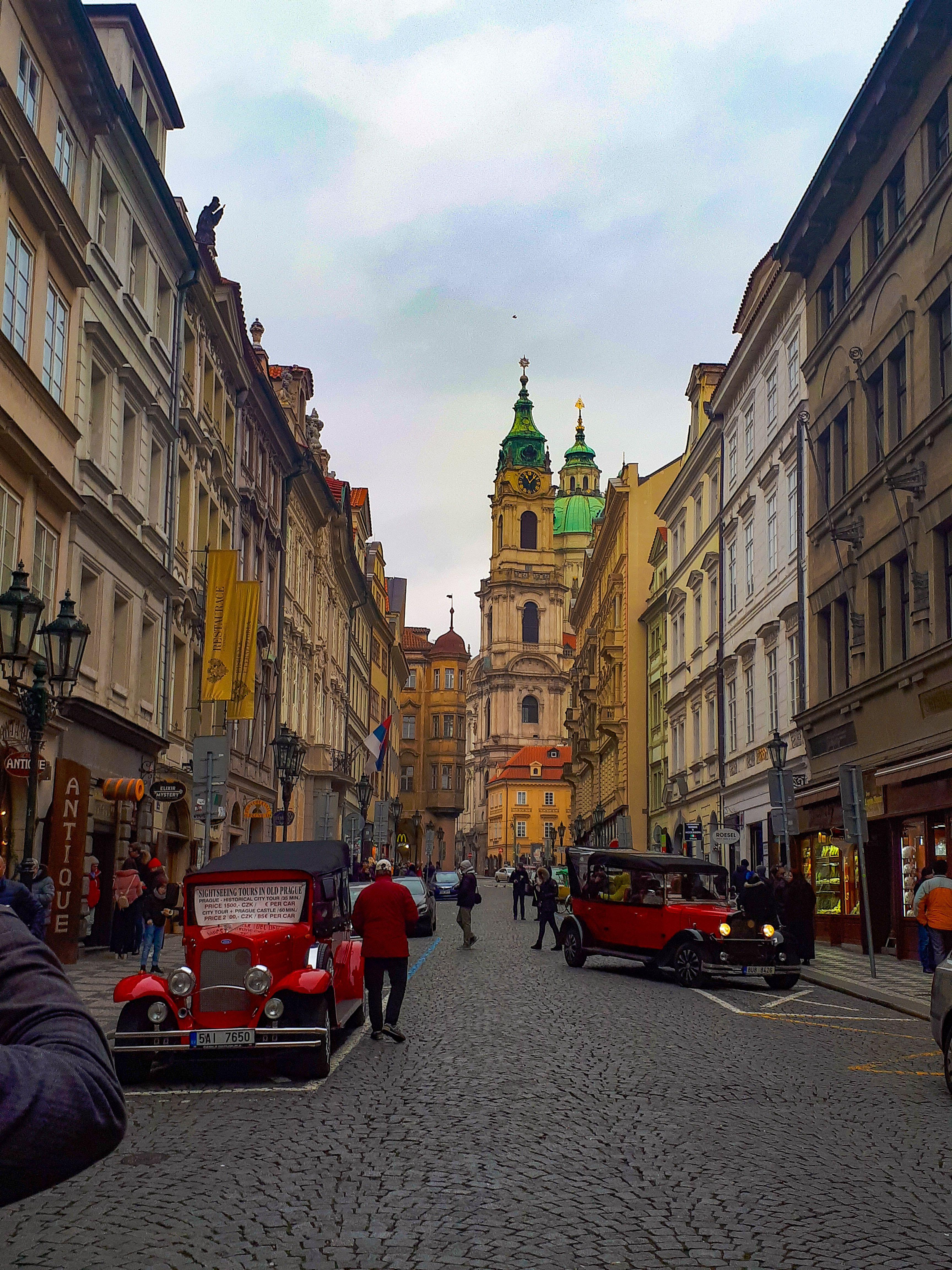 Beautiful Mostecka street. Prague, Czech Republic. 2018