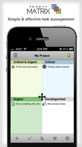 Priority Matrix for iPhone - FREE to do list app for managers - simple sales contract