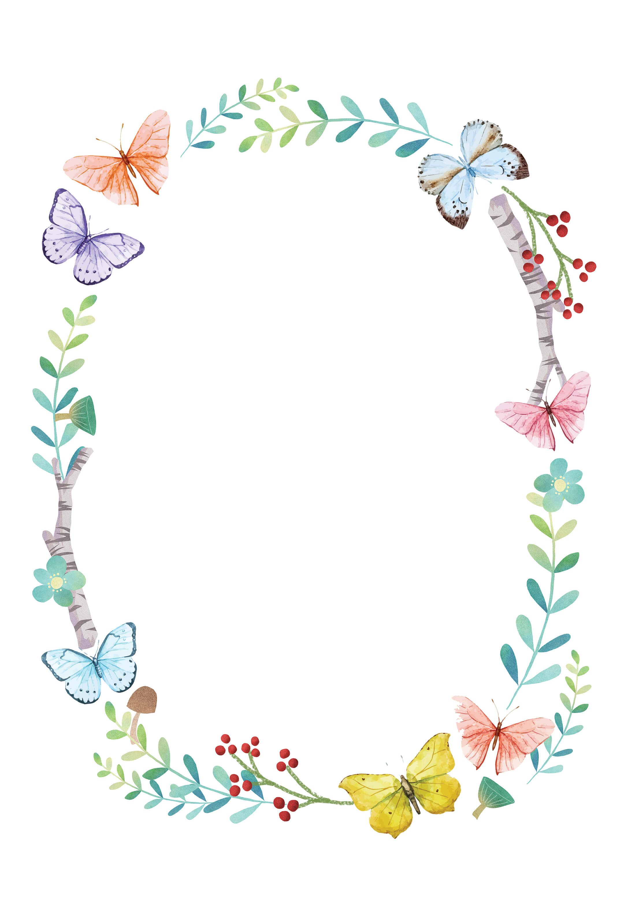 Butterfly Invitations Templates Free : butterfly, invitations, templates, Butterfly, Kisses, Shower, Invitation, Template, (Free), Greetings, Island, Invitations,, Templates,