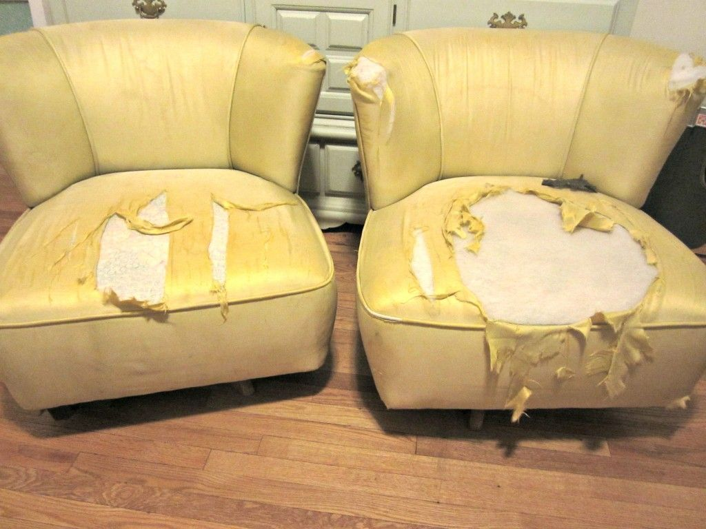How To Reupholster Armless Chairs Using Canvas Drop Cloth