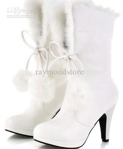 Same Fur Boot Heels With Flap Up