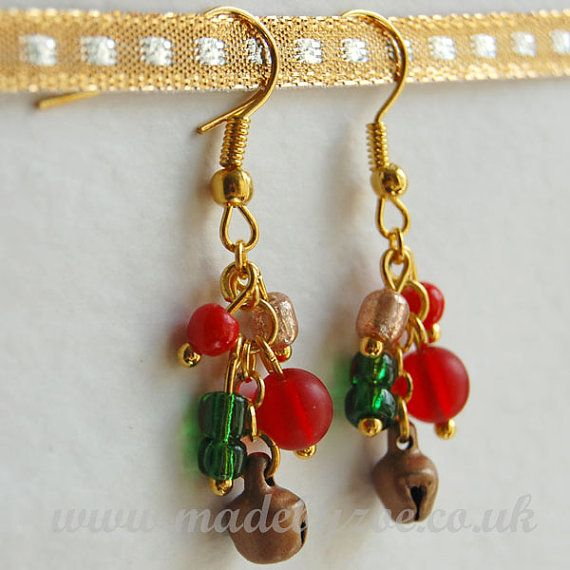 Christmas copper bell dangle earrings by JewelleryMadeByZoe, £5.00