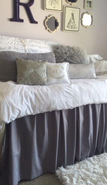 Dorm Room Bed Skirt By Dorm Room Couture | Hide Underbed Storage With This  3 Paneled Part 59