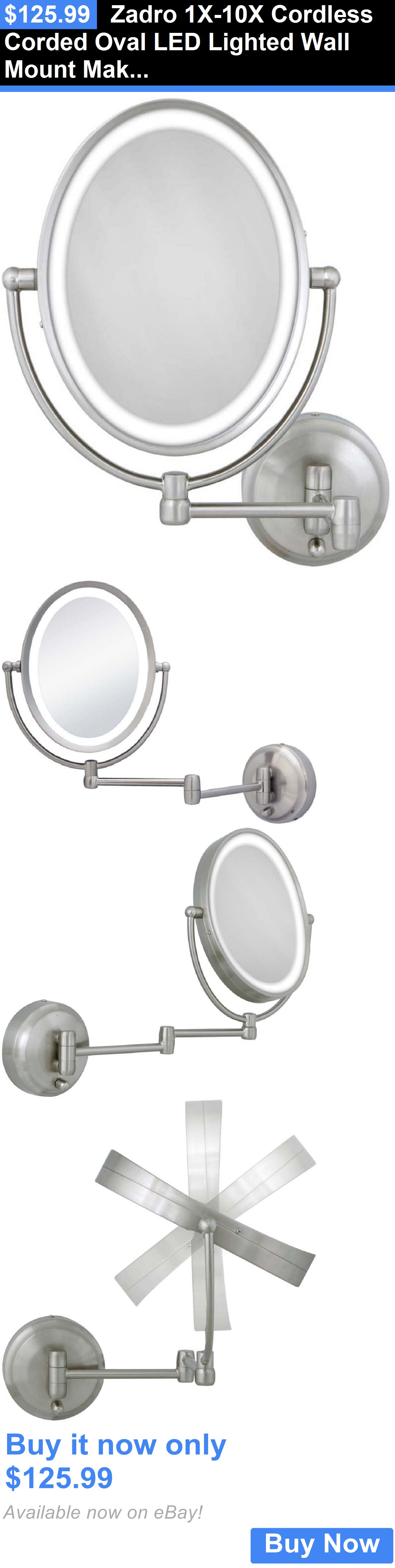 Makeup Mirrors Zadro 1X10X Cordless Corded Oval Led