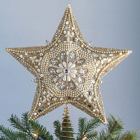 Gold And Silver Tree Topper Gumps Com Silver Tree Topper Star Tree Topper Diy Tree Topper