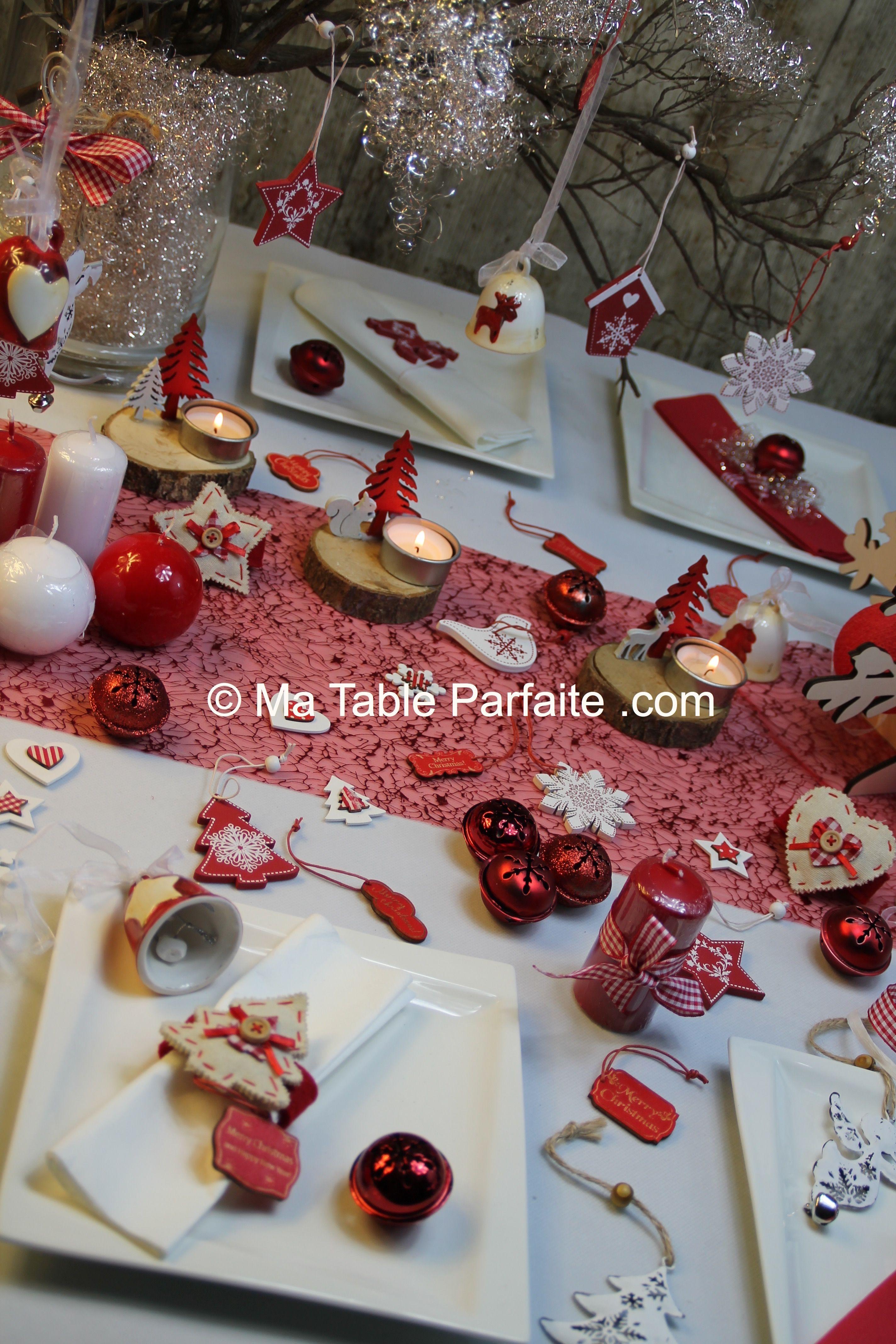 Amazing Deco De Table Rouge 8 Une Belle D Coration De Table Pour No L Rouge Blanc Http