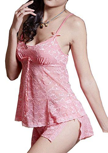 1de669d88 Ms Demon Lingerie Set Lace Camisole Two-piece Suit Nightclothes (4-14Free