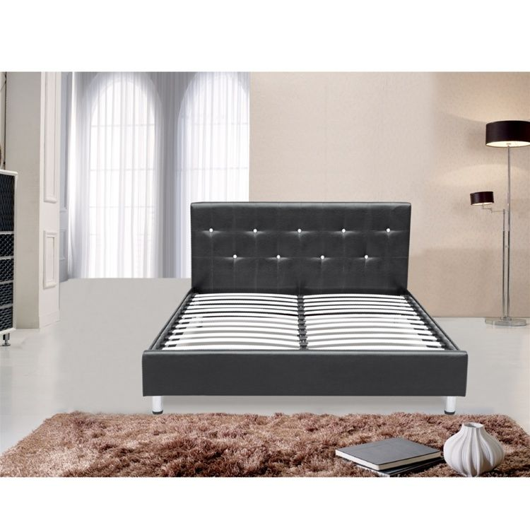 Best Queen Size Platform Bed With Tufted Headboard Bed Comes 640 x 480