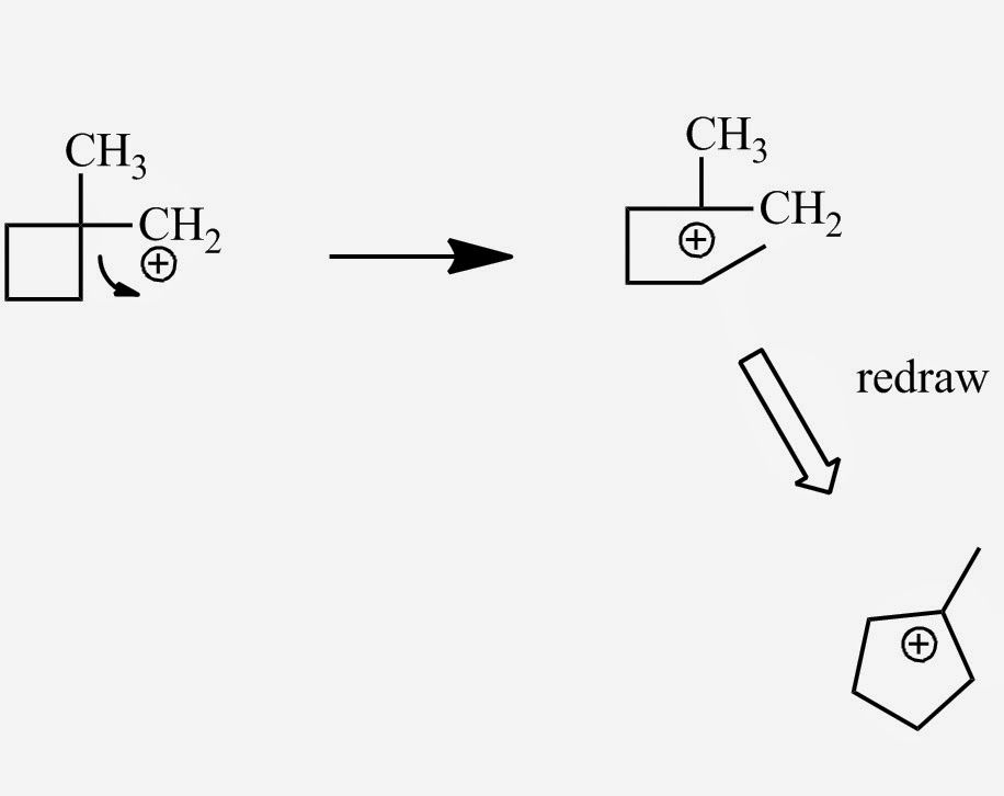 Chemistry Net: Carbocation Rearrangements and Change in Ring Size...