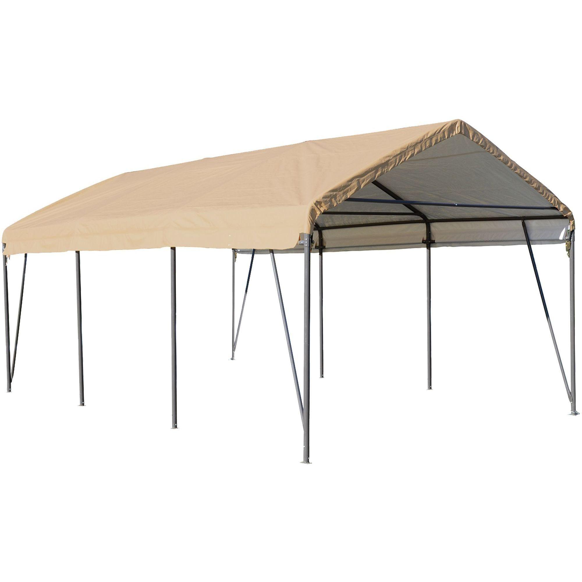 ShelterLogic Sandstone Steel CarportinaBox Overstock