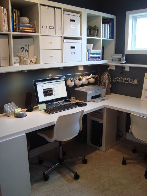 Four Functioned Multi Purpose Room Our Tiny Downstairs Room Is Transformed With A Little Help From A Home Office Space Home Office Design Ikea Small Office