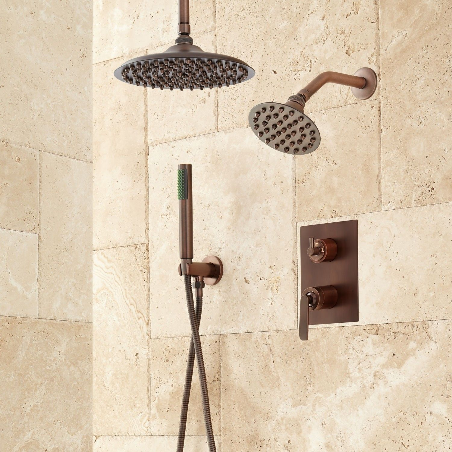 Trimble Shower System In 10 Rainfall Wall Shower Hand Shower In
