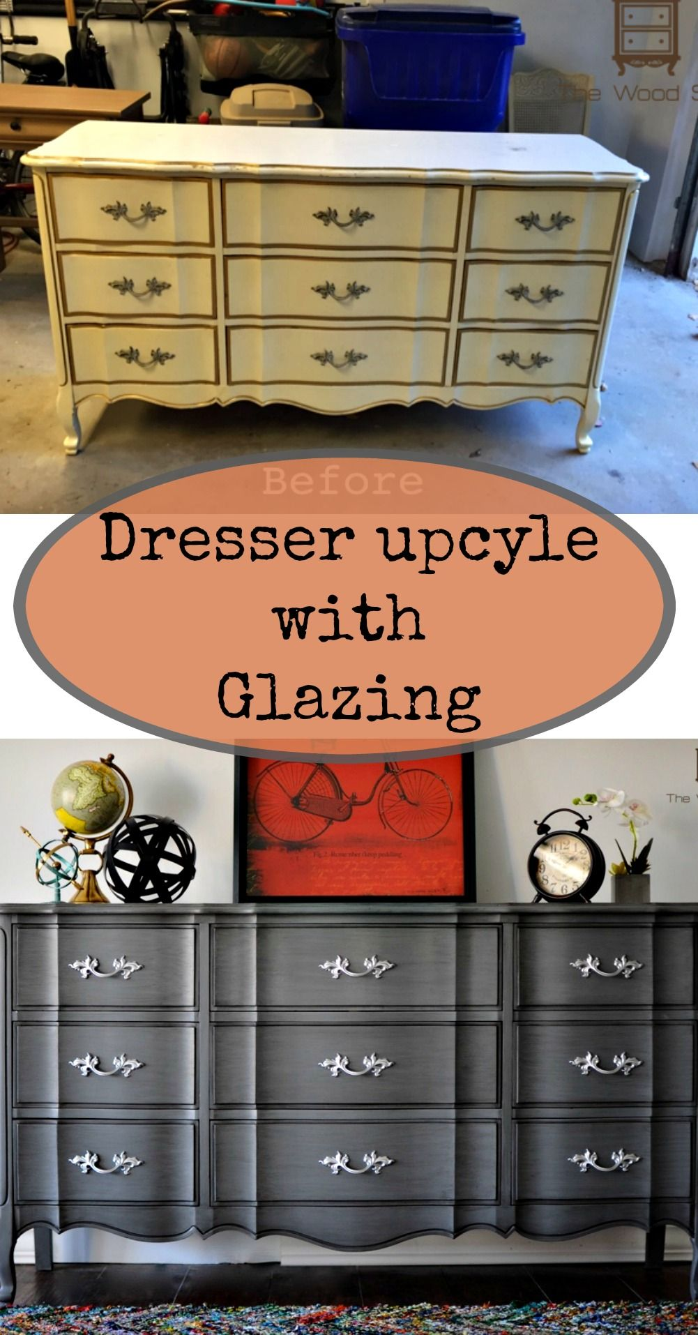 Upcycled French Provincial Dresser French Provincial Dresser