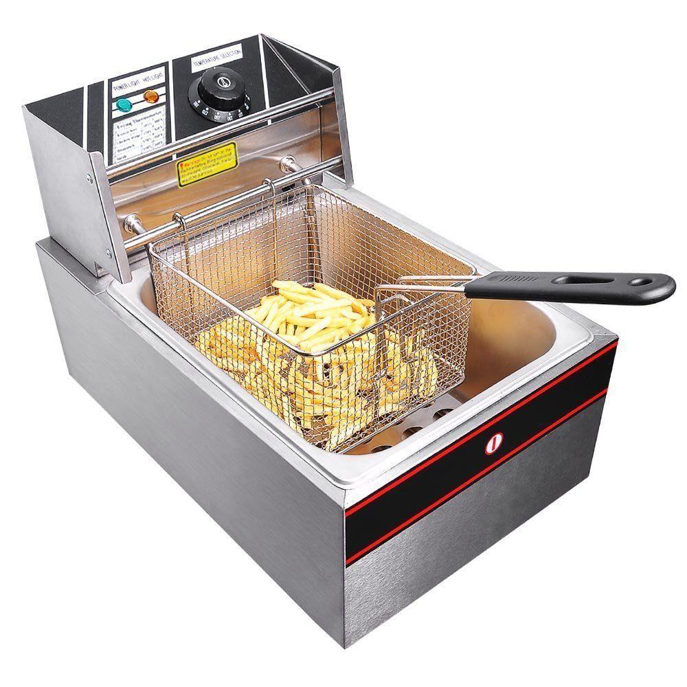 2500W 6 Liter Electric Countertop Deep Fryer Tank Basket