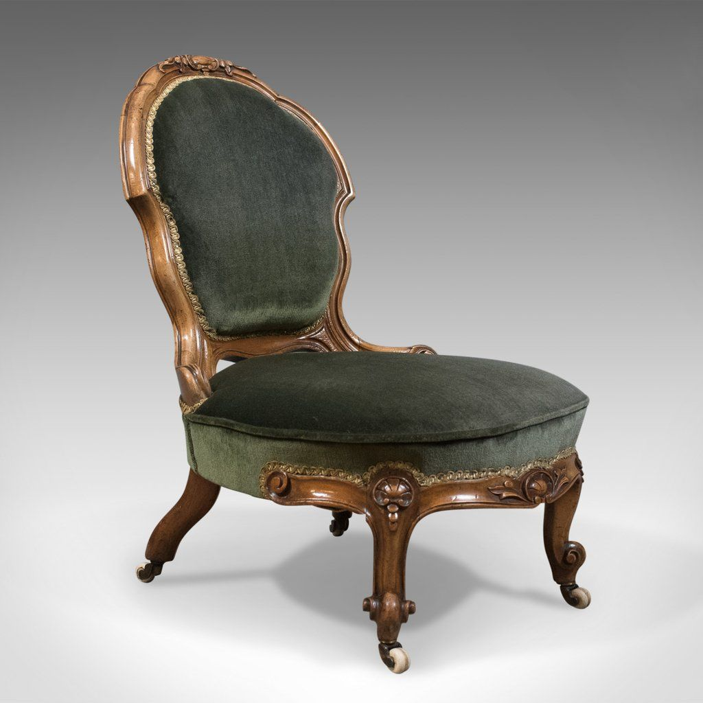 Small Antique Regency Nursing Chair, English, Walnut, Salon Circa 1820 - Small Antique Regency Nursing Chair, English, Walnut, Salon Circa