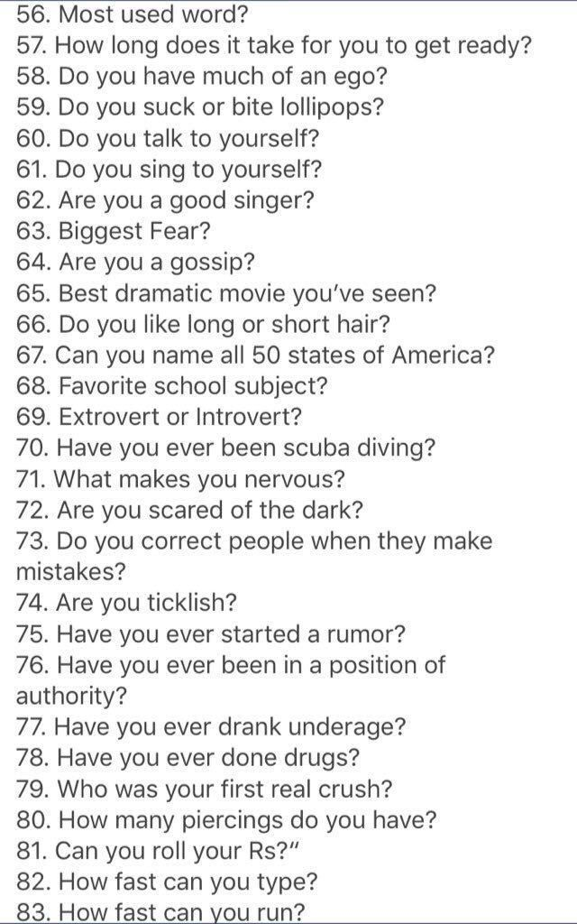 To in questions 20 ask things Top 20