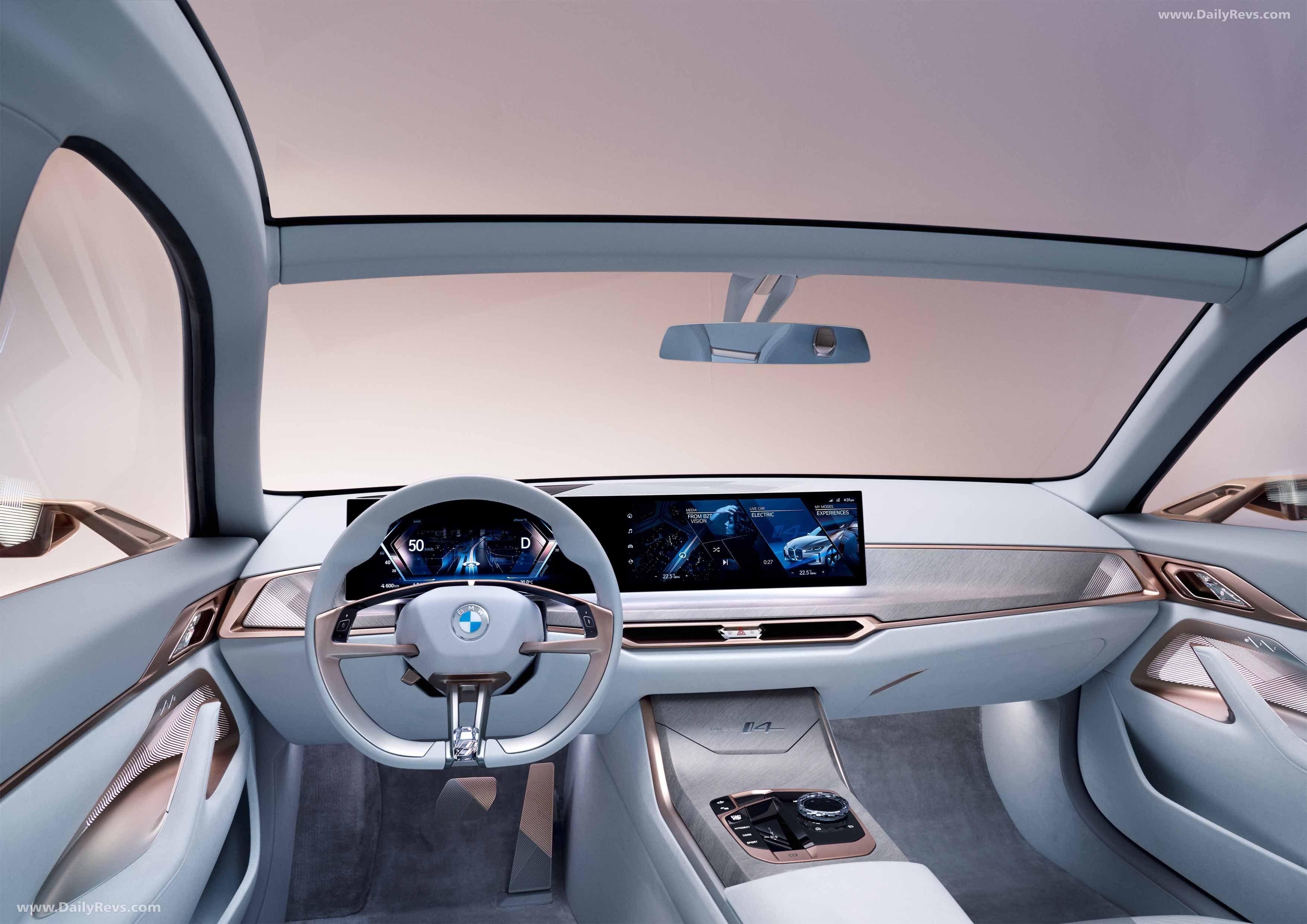2020 Bmw I4 Concept Dailyrevs Com In 2020 Bmw Concept Bmw Interior Bmw