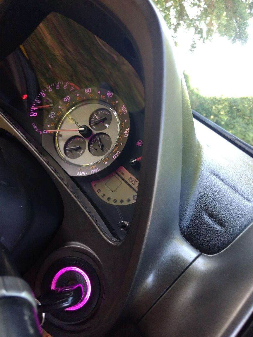 Lexus Is300 Purple Gauge Cluster And Key Ring T10 Purple Led Bulbs Lexus Is300 Lexus Gauge Cluster