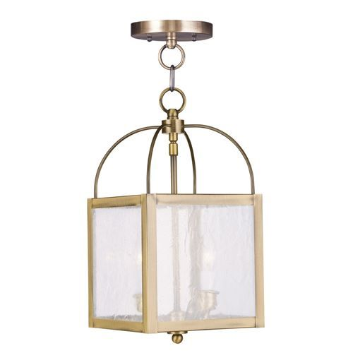 How To Hang Pendant Lights Livex Lighting 4045 Milford 2 Light Convertible Chain Hangceiling