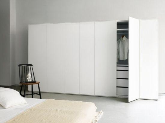 Schlafzimmerschrank design  schlicht weiß minimalistisches kleiderschrank design piure ...