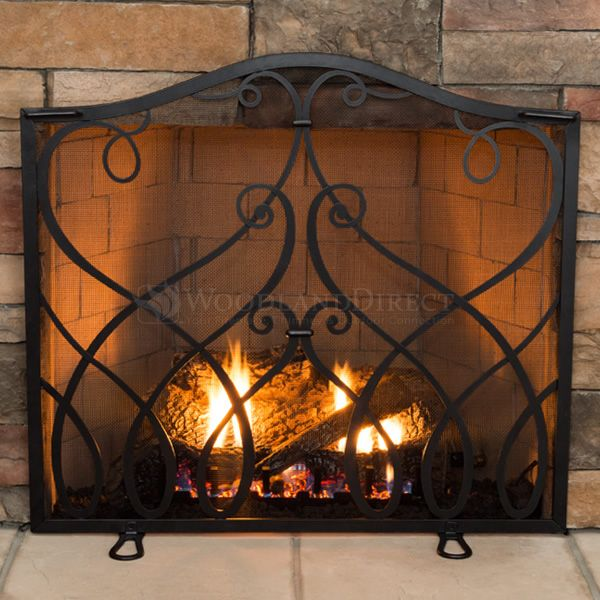 Williamsburg cypher collection small fireplace screen 315 - Ideas to cover fireplace opening ...