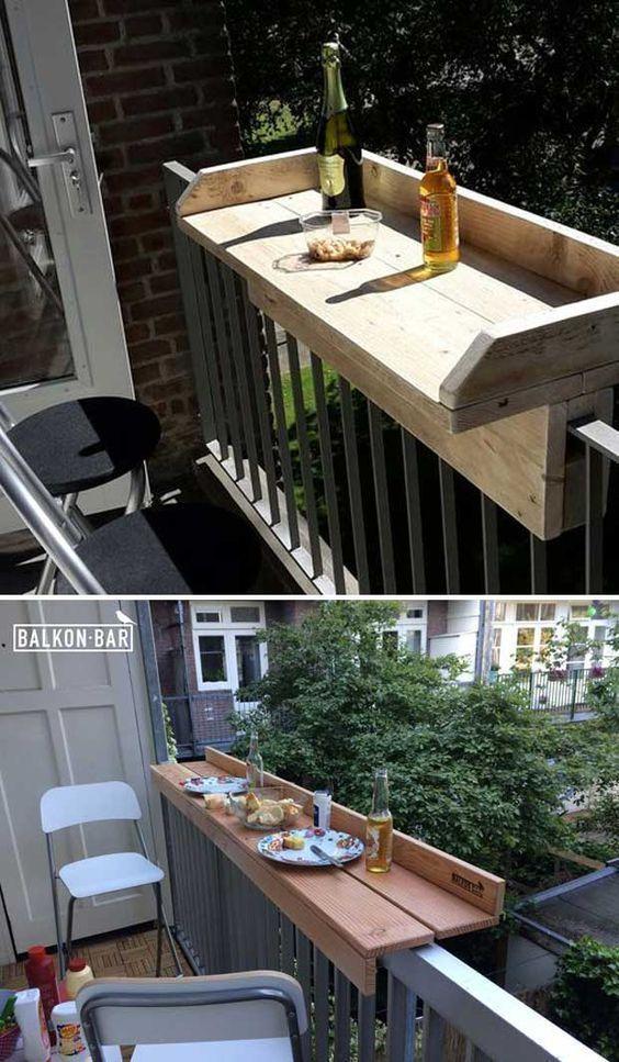La Meilleur Idee Pour Les Petites Terrasses Ou Appartement Comment Agrandir Votre Balcon A Mini Budget Diy Outdoor Furniture Diy Outdoor Small Outdoor Spaces